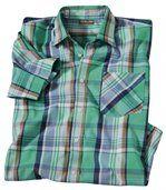 Popelínová kostkovaná košile preview2