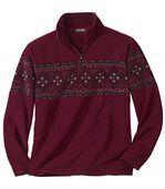 Żakardowy sweter z polaru preview2