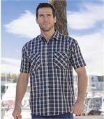 Kostkovaná dvoubarevná košile preview1