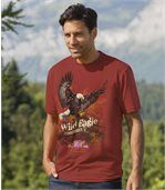 Men's Terracotta T-Shirt - Sea Eagle Print  preview1