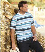 Melírované bavlnené tričko Oceán preview1