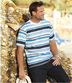 Ocean T-shirt van gevlamd katoen preview1