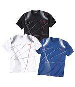3er-Pack T-Shirts - Blau, Weiss, Schwarz preview1