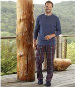 Men's Blue Patterned Cotton Pyjamas preview2