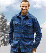 Overhemd van fleece met blauwe ruiten preview1