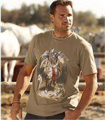 T-Shirt mit Indianer-Motiv preview1