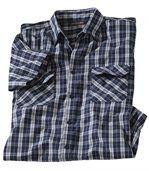 Kostkovaná dvoubarevná košile preview2