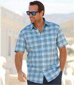 Košile Azur Stripes skrepovým efektem preview1