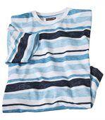 Melírované bavlnené tričko Oceán preview2
