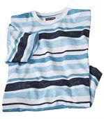 Ocean T-shirt van gevlamd katoen preview2