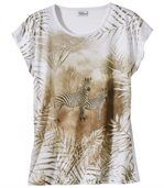 T-Shirt mit Zebramotiv preview2