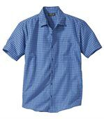 Men's Blue Checked Stretch Riviera Shirt preview1