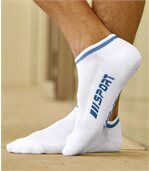 Sada 5 párů sportovních kotníkových ponožek