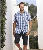 Pack of 2 Men's Denim Shorts - Black Blue  preview2