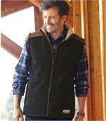 Men's Black Fleece and Sherpa Gilet