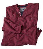 Červené tričko s dlhýmrukávom preview2