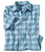 Košile Azur Stripes skrepovým efektem preview2