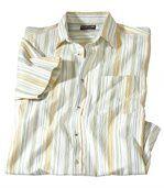 Prúžkovaná krepová košeľa