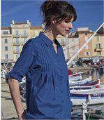 Dlhá indigo košeľa preview1