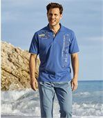 Men's Blue Jersey Sailing Polo Shirt preview2