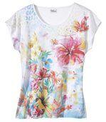 Tričko spotiskem exotických květů preview2