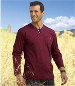 Červené tričko s dlhýmrukávom preview1