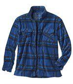 Overhemd van fleece met blauwe ruiten preview3
