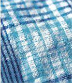 Košile Azur Stripes skrepovým efektem preview3
