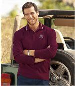 Pack of 2 Men's Sporty Polo Shirts - Red Grey preview3