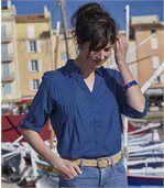 Dlhá indigo košeľa preview2