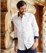 Biała popelinowa koszula Casual
