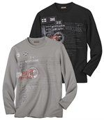 Sada 2 triček sdlouhým rukávem preview1