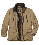 Men's Brown Multi-Pocket Parka Coat preview2