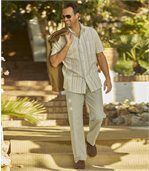 Men's Beige Summer Leisure Trousers preview2