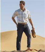 Sada  strečových džínů rovného střihu