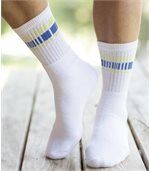 Pack of 5 Pairs of Men's Sports Socks - White Anthracit Grey