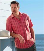 Men's Coral Short Sleeve Shirt - Palm Sun preview1