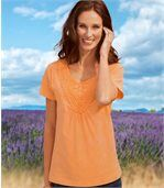 T-Shirt in Apricot preview1