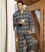Karierter Schlafanzug aus Flanell preview1