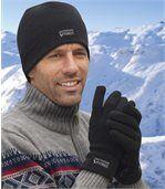Das Set aus Fleece: Mütze und Handschuhe preview1