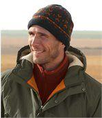 Mütze aus Strick und Fleece preview1