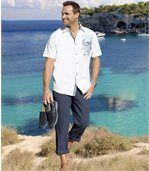 Men's Grey  Cotton/Linen Trousers  preview2