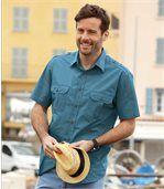 Men's Turquoise Summer Pilot Shirt preview1