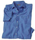 Kostkovaná košile Vichy skrepovým efektem preview2