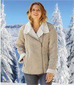Zateplený štýlový kabátik