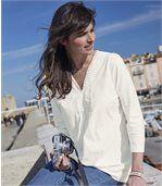 Tunika vbohémském stylu svýstřihem lemovaným macramé krajkou preview1