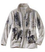 Fleecová mikina spotiskem vlků preview2