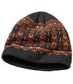 Mütze aus Strick und Fleece preview2