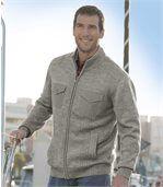 Pletený sveter s praktickými vreckami preview1