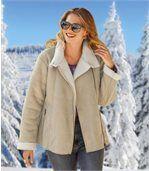 Zateplený štýlový kabátik preview3